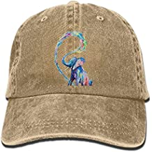 Langfujing Workouts and Outdoor Activities Adult Adjustable Printing Straw Cowgirl Cowboy Bucket Hat