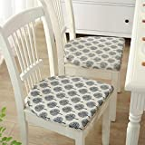 2-Pack Linen Chair Cushions Anti-slip Seat Cushion Decorative Chair Pads for Dinning Room