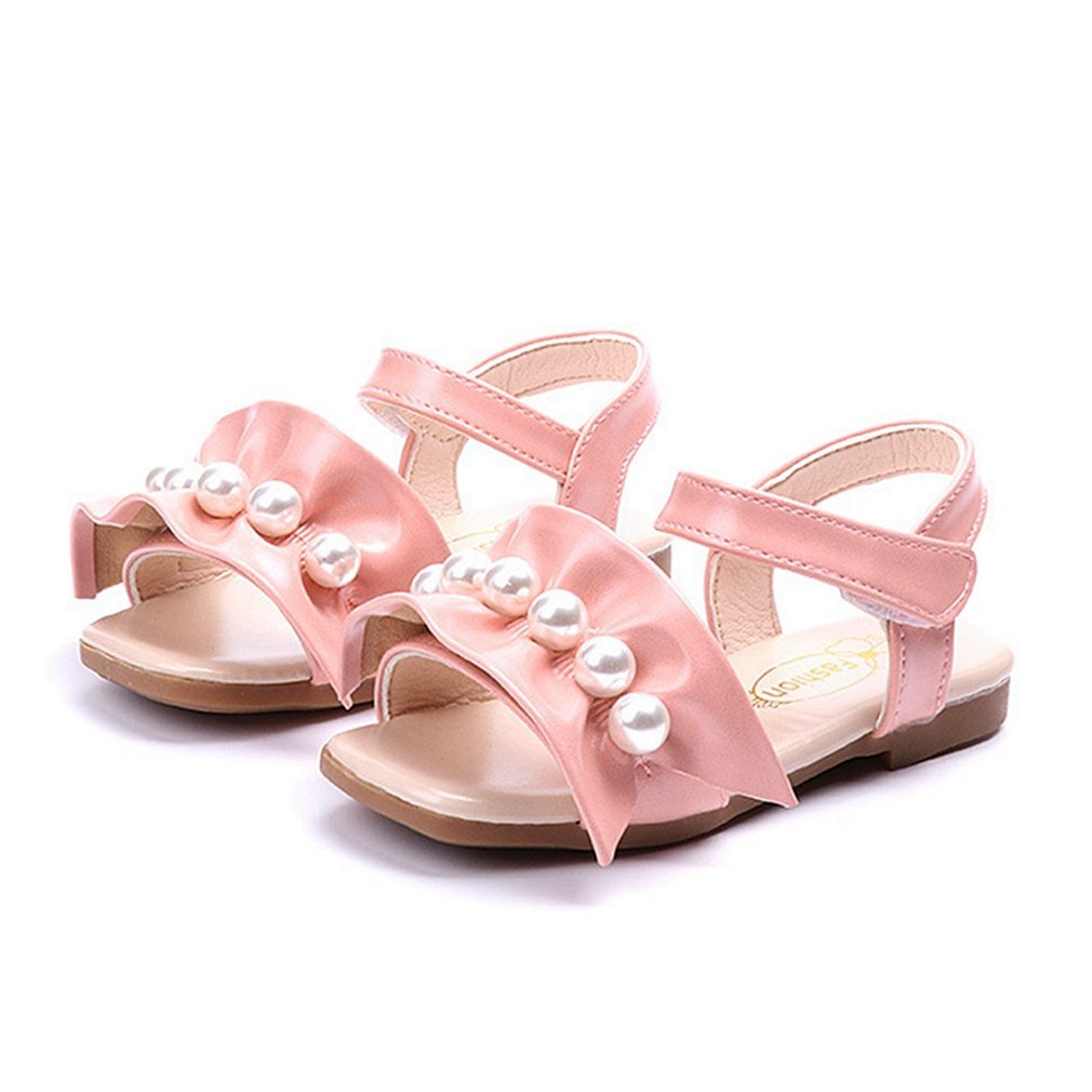 CYBLING Toddler Little Girls Flat Sandals Princess Summer Open Toe Dress Shoes