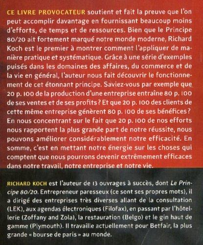 BIEN VIVRE LE PRINCIPE 80/20 PDF GRATUIT