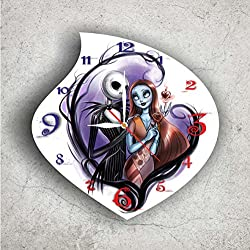 The Nightmare Before Christmas 11.4'' Handmade Wall Clock - Get unique décor for home or office – Best gift ideas for kids, friends, parents and your soul mates