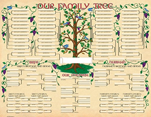 Family Tree Geneology Chart Poster (2-Pack)
