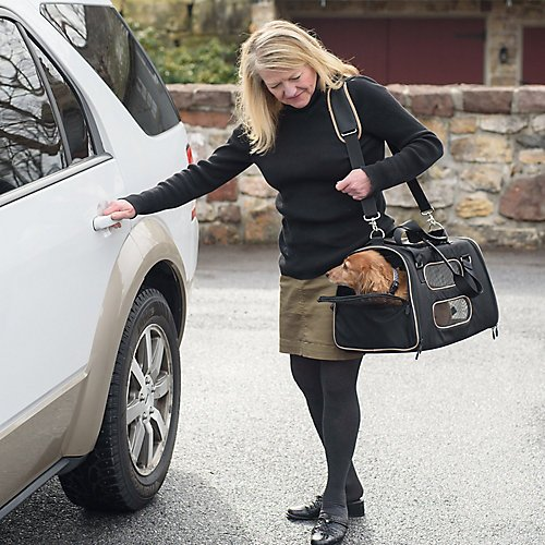 Crash Tested Gen7 Commuter Dog, Cat, Pet Carrier and Car Seat (Black) by Gen7Pets