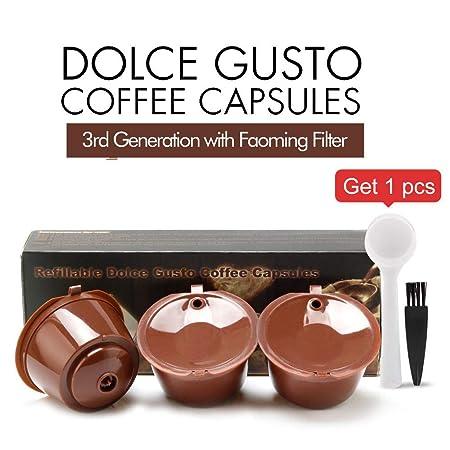 i Cafilas 3 Pack Cápsulas Filtros de Café Recargable Reutilizable ...