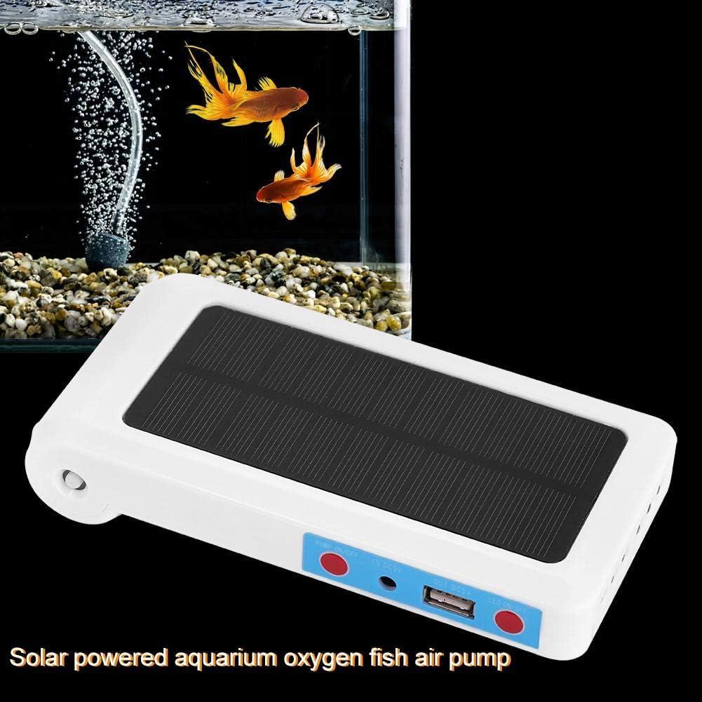 Anself Pompe /à Air Aquarium Poisson 5V Solair Charge Oxyg/énateur Pompe /à Air P/êche Oxyg/ène avec Air Pierres