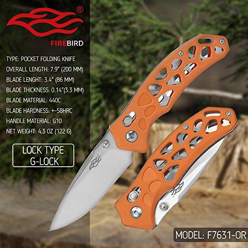 Amazon.com: Firebird F7631 Cuchillo plegable pequeño de ...