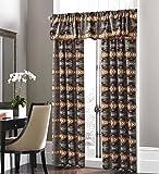 Southwest Native American Design 5 Piece Curtain Set Navajo Multicolor Grey 5 Piece Curtain Set