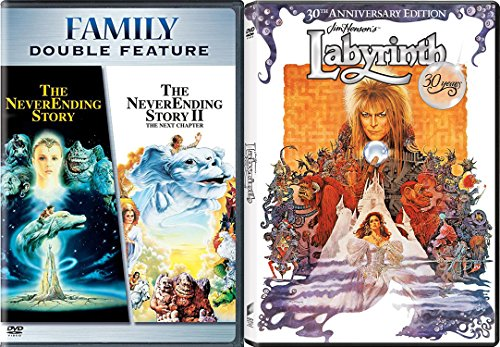 The Never Ending Story 1 and 2: The Next Chapter & Labyrinth (30th Anniversary Edition) 2-DVD Fantasy Bundle