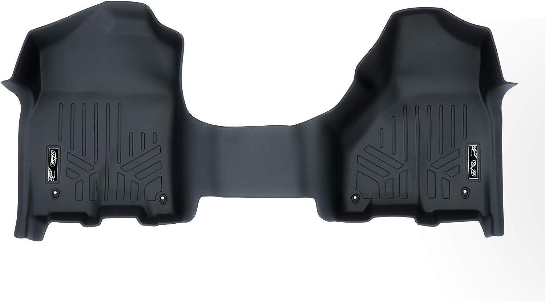 SMARTLINER Custom Fit Floor Mats 1st Row One Piece Liner Black for 2012-2018 Dodge Ram 1500//2500//3500 Crew Cab or Mega Cab
