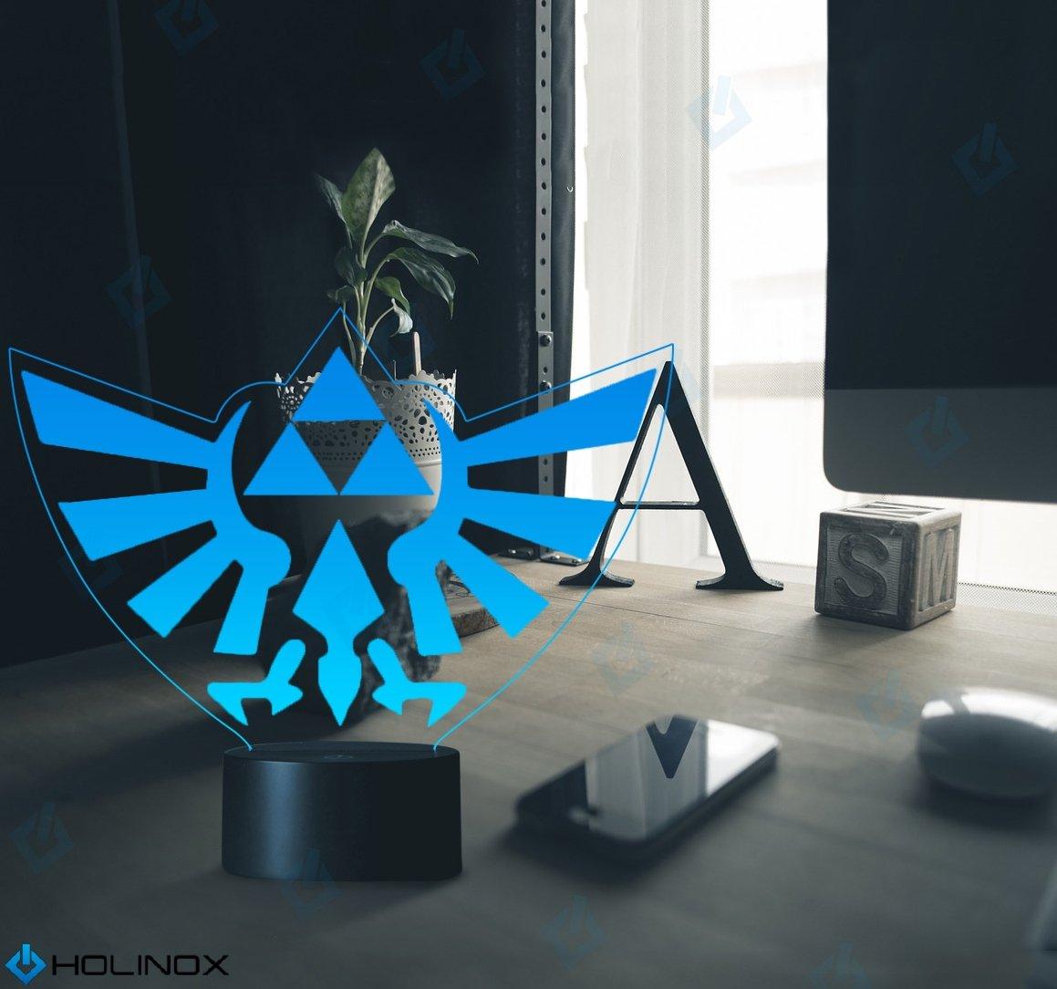Legend Of Zelda Triforce Lighting Decor Gadget Lamp + Sticker Decor For Perfe.. 8