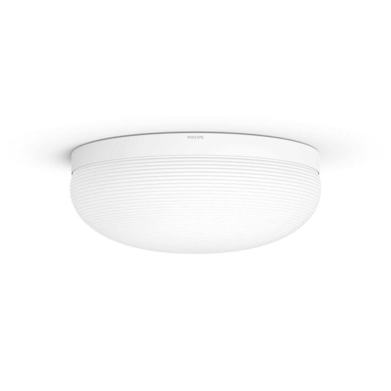 Philips Hue White and Color Ambiance LED Tischleuchte Flourish, dimmbar, steuerbar via App, kompatibel mit Amazon Alexa, weiß [Energieklasse A+] weiß 915005689101