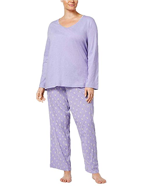 d9ed11139d2e Image Unavailable. Image not available for. Color: Charter Club Women's  Cotton Pajama Set ...