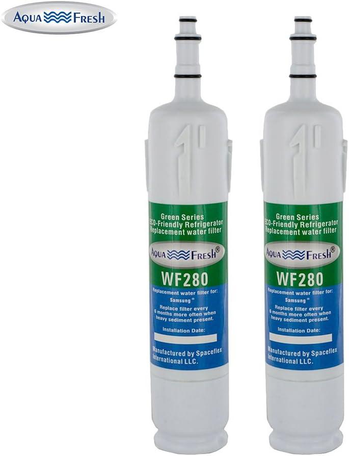 Aqua Fresh WF280 Replacement DA29-00012B Refrigerator Water Filter Compatible with Samsung DA29-00012A, DA29-00012B, HAFCN/XAA, RWF1120, SGF-DSA21, DA97-03175A (2 Pack)