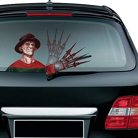 MIYSNEIRN Rear Window Wiper Decal Halloween Horror Annabelle Waving Wiper Arms 3D Funny Cartoon Festive for Car Bumper Sticker Waterproof Wiper Vinyl Decal for Vehicle Rear Wipers Decor