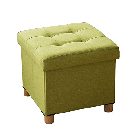 Mz Storage Ottoman Cube With Lid/Footrest Stool/Coffee Table, Holds Up To