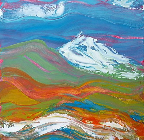 Archival Oil (Cascadia 1 abstract landscape oil painting)