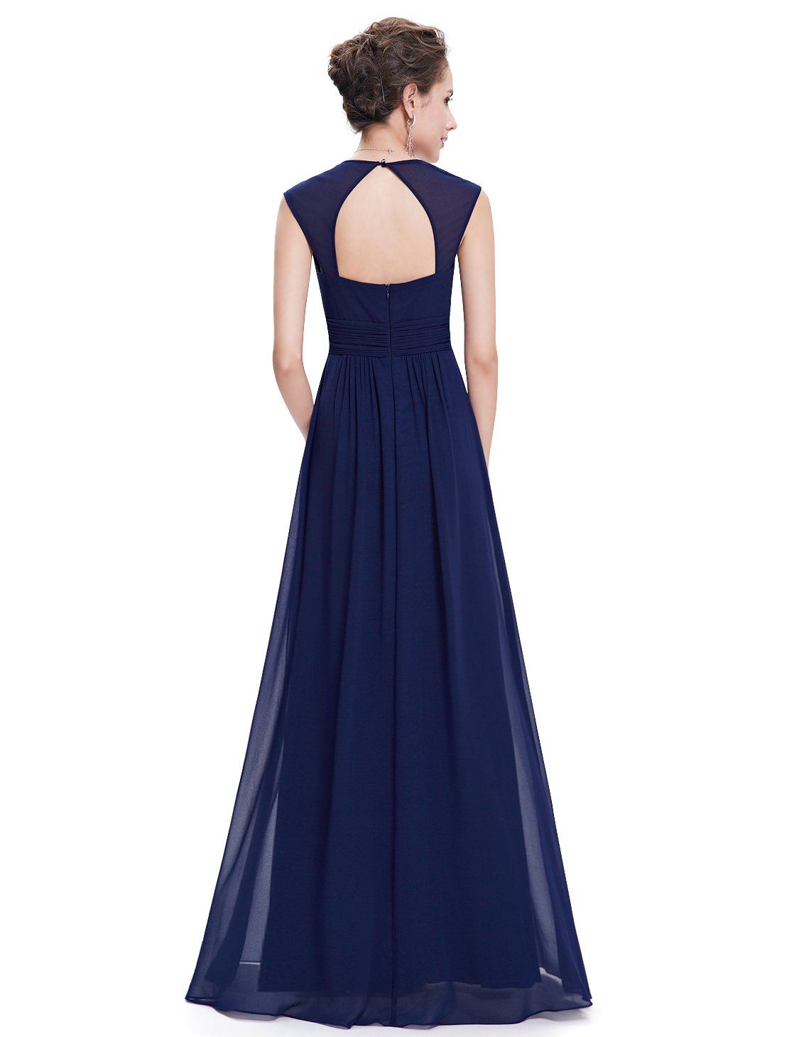 Ever-Pretty Womens Floor Length Beaded Grecian Style Military Ball Dress 6 US Navy Blue by Ever-Pretty (Image #2)