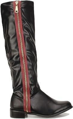 FOWT Women Knee High Riding Boots Side