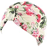 beauty YFJH 2 Pack Printed Soft Pre Tied Cotton India Chemo Cap Beanie Turban Headwear for Cancer