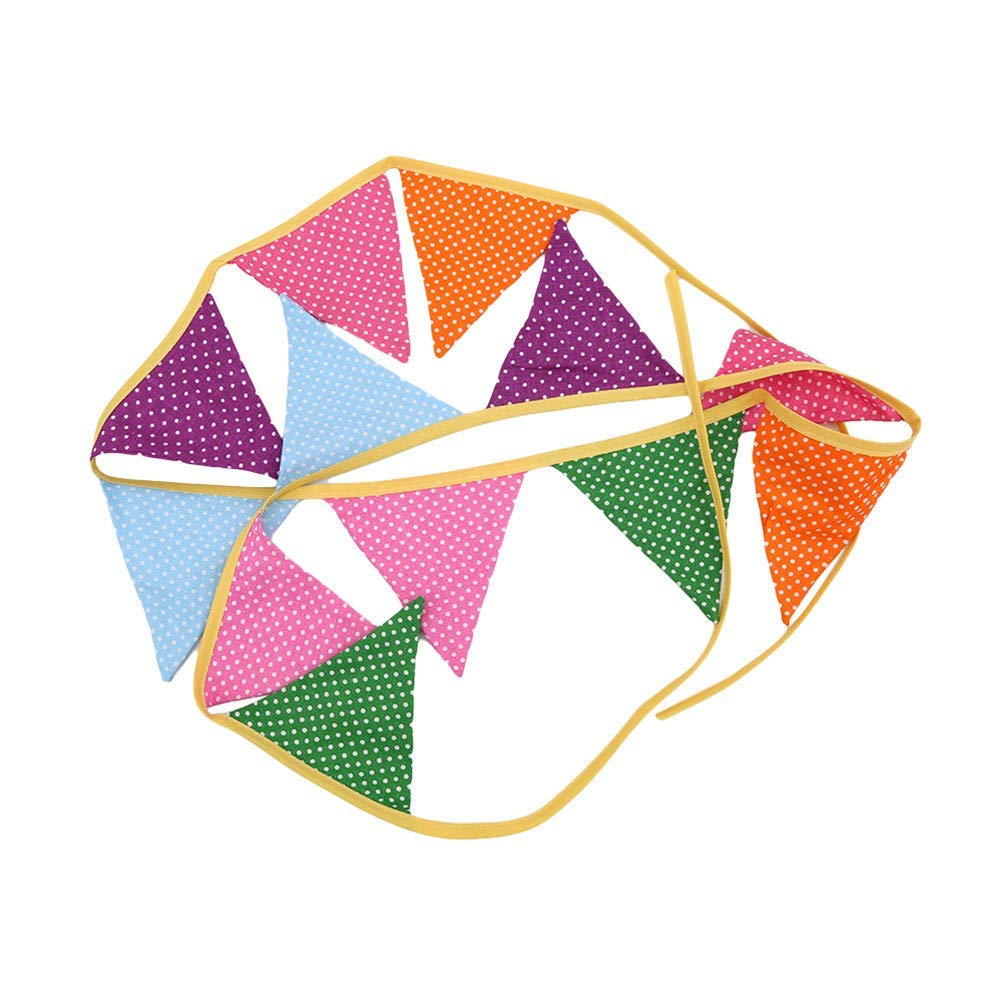 Xeminor Premium Quality Garland Bunting Banners for Kids Birthday,Wedding,Baby Shower,Christmas Banner Decor,Colorful