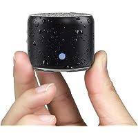 Travel Case Packed, EWA A106 Pro Portable Bluetooth Speaker with Custom Bass Radiator, Brief Design, IP67 Waterproof, Perfect Mini Speaker for Shower, Room, Bike, Car (Black)