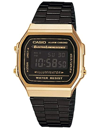 5e71a413fee7 Casio Collection Unisex Adults Watch A168WEGB-1BEF  Amazon.co.uk ...