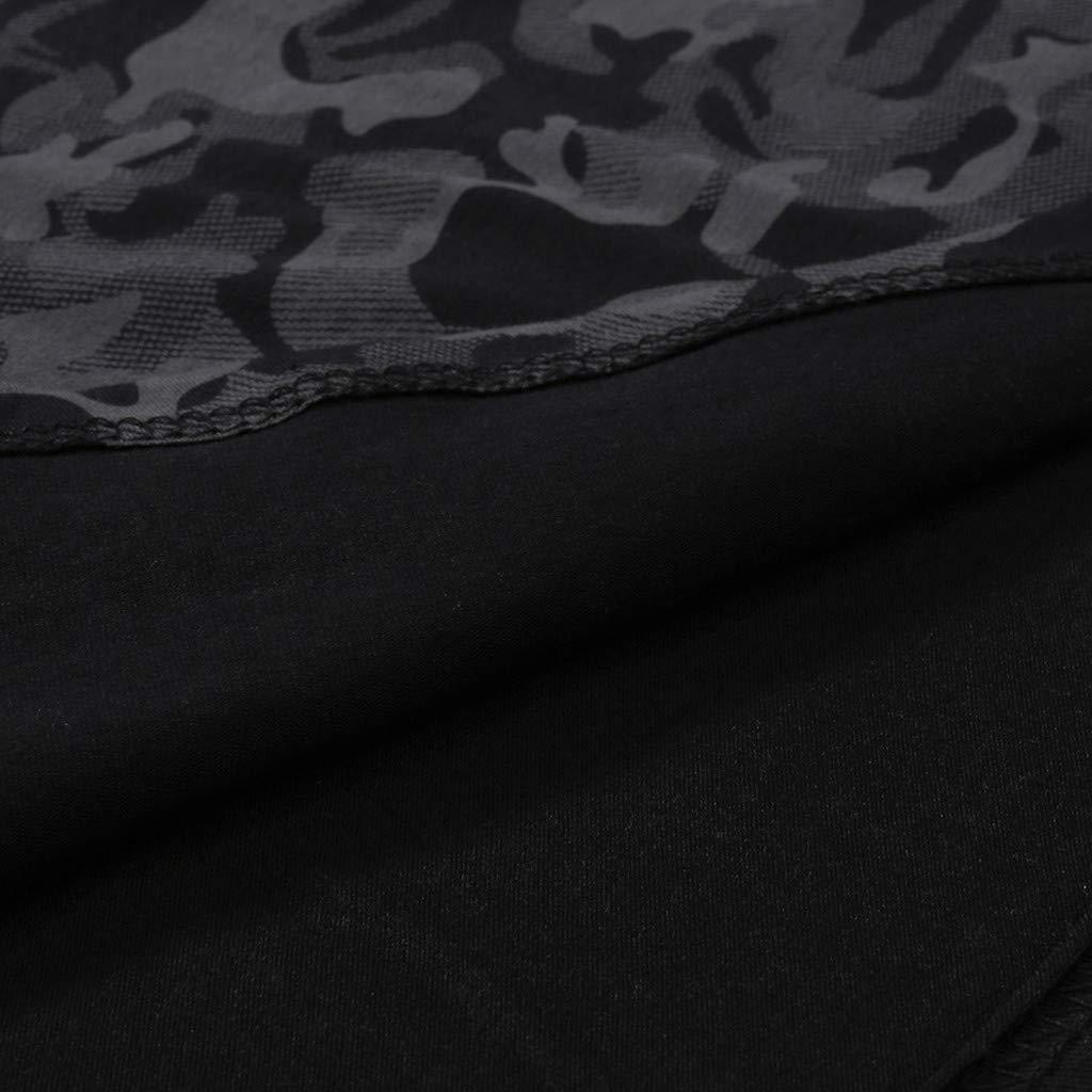 Sinma Mens Hipster Hip Hop Patchwork Print Crewneck Short Sleeve T-Shirt