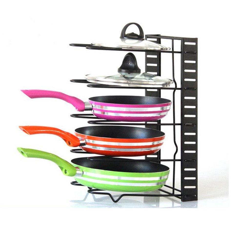 AcornFort - Organizador de 5 niveles para la cocina - estantería para almacenar sartenes - color negro YOYO INFO UK LTD