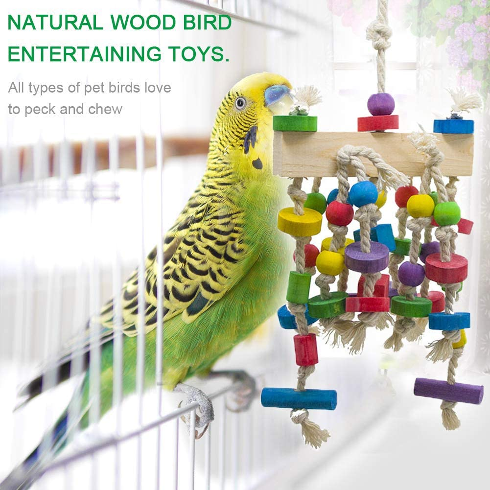 1pcs Bird Chew Toy Natural Bamboo Vine Shoes Shape Grinding Claw Toy Pet Cages Hanging Accessories for Bird Parrot Macaw Budgie Cockatiel 3cm 15 Scrox 6