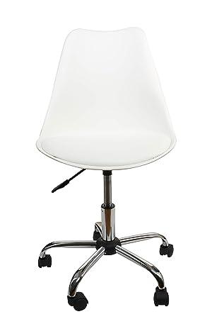 U-Eway - Silla de Oficina de Color Blanco, Respaldo bajo ...