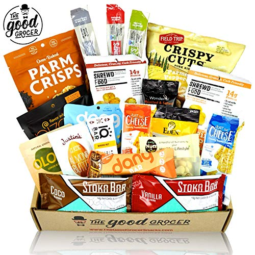 KETO Friendly Snacks Gift Care Package (20ct): Ultra Low Carb, High Fat, Ketogenic, Gluten Free, No Added Sugar, Healthy Fats, Low Glycemic Healthy Gift Box, Gift Basket Alternative, Variety Pack (Best Paleo Thanksgiving Desserts)