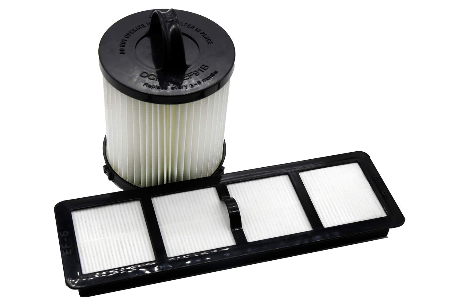 Green Label HEPA Filter Kit DCF-21 and EF-6 for Eureka Airspeed Upright Vacuum Replacement Set (compares to 67821, 68931, 68931A, EF91, EF-91, EF-91B, 83091-1)