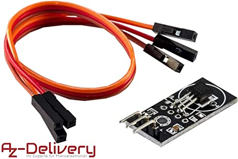 AZDelivery DS18B20 Módulo de conexión con placa de circuito ...