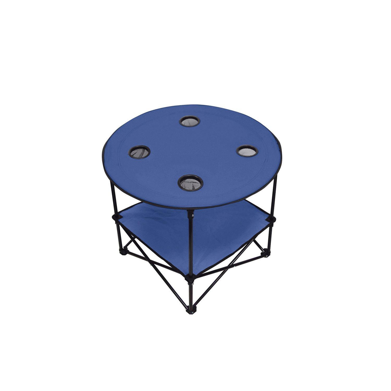 Blue Natico 60-7384-BL Outdoor Portable Picnic Table