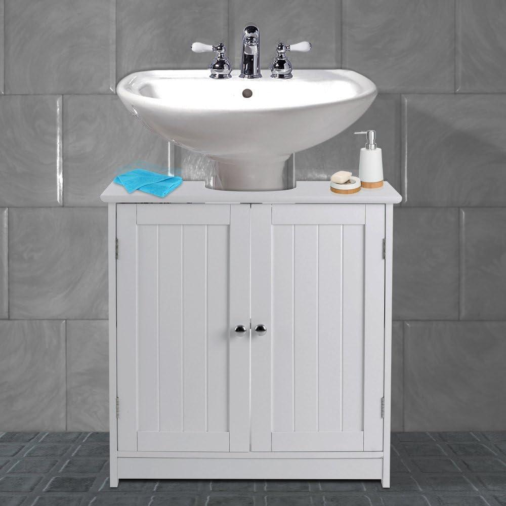 Weiß Badezimmer unter Waschbecken Schrank Waschbecken Qualität Aufbewahrung  Möbel