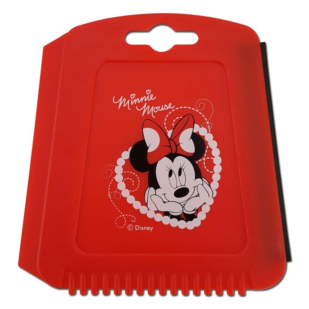 Auto Eiskratzer Eisschaber Disney Minnie Mouse Maus Rot mit Gummilippe