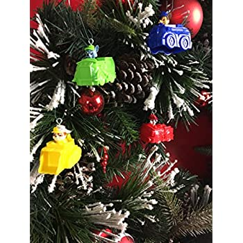 paw patrol christmas tree ornaments on vehicles