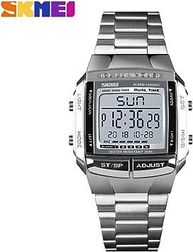 YCDC - Reloj de pulsera para hombre con cuenta atrás digital LED: Amazon.es: Relojes