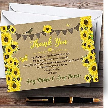 Girasoles rústico Vintage personalizado boda tarjetas de ...