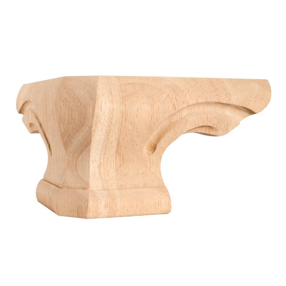 "Set Of 4- Rounded Pedestal Foot Corner 6-3/4"" x 6-3/4"" x 4"""