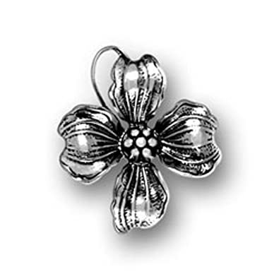 sterling silver 3d dogwood tree flower charm