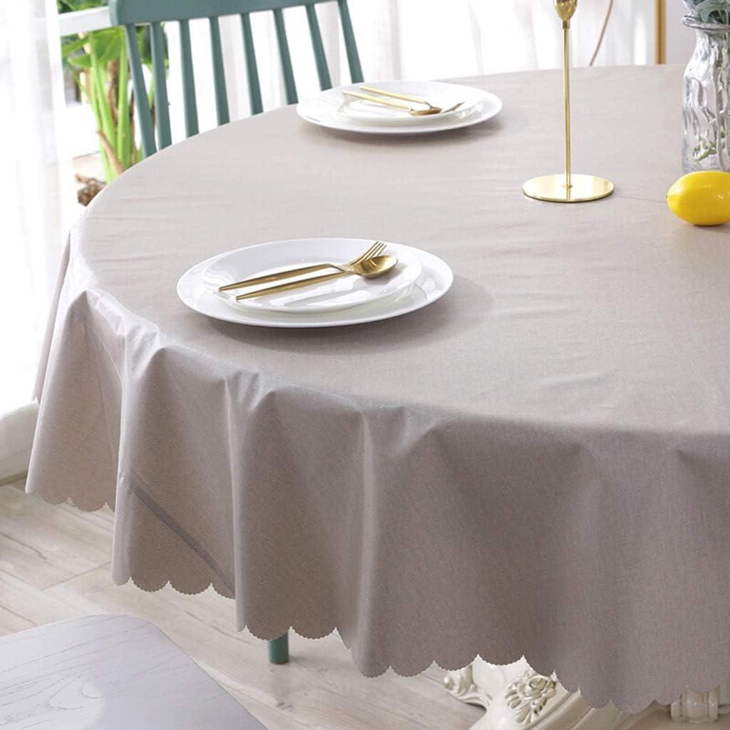 chiffon anti-fouling propre Dyf Nappe nappe imperm/éable en PVC Color : A, Size : 120cm tapis de pique-nique de jardin de table basse ronde de couleur unie zxy