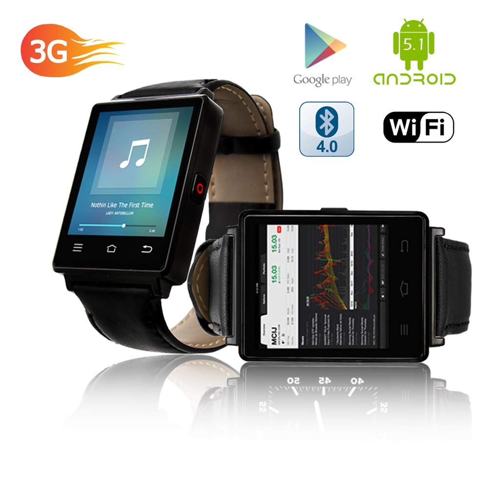 Indigi NEW 2017 3G Android 5.1 Smart Watch Phone (GSM Factory Unlocked) Maps + WiFi + GPS + Google Play Store by inDigi (Image #5)