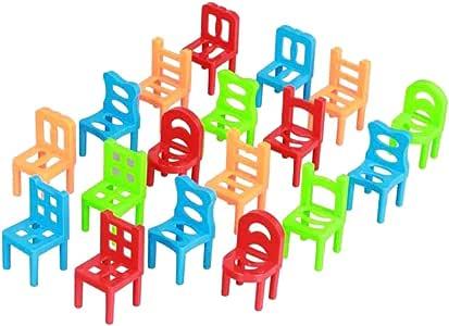 Egosy Divertido Juego Familiar El Juego de Habilidad para niños y Adultos Juego de apilamiento con sillas y escaleras Juego de Habilidad: Amazon.es: Hogar