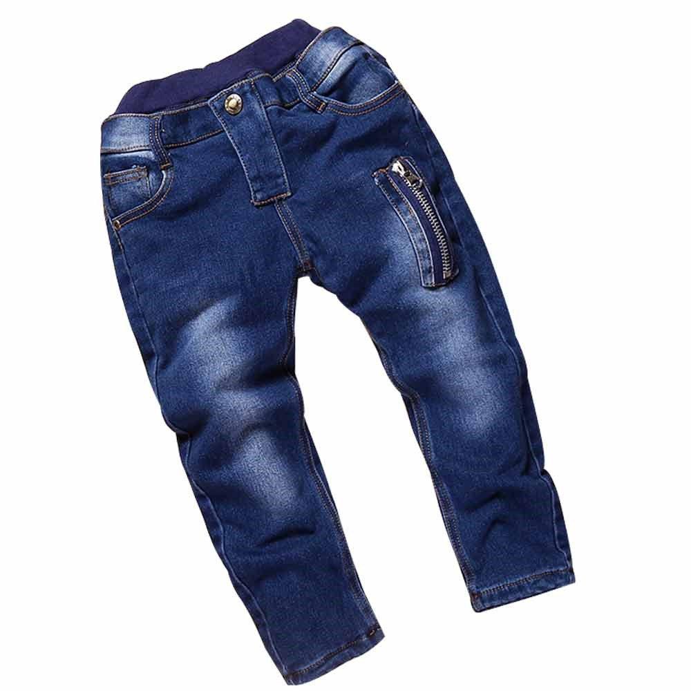 Boy's Blue Skinny Fit Stretch Slim Denim Zipper Jeans Pants Fuzhou Shang Ku Trade Co. Ltd.