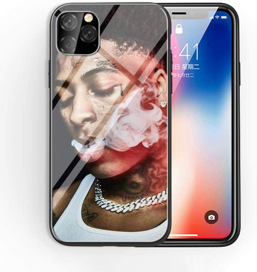 Amazon Com For Iphone 11 Pro Max Tempered Glass Phone Case A 57 Hip Hop Youngboy Never Broke Again Soft Silicone Tpu Cover