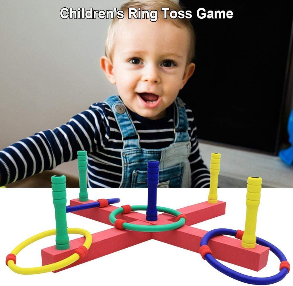 Ring Toss Spiel Outdoor Indoor Spielzeug /& Geschenke F/ür Kinder Ring Toss Spiel F/ür Kinder Und Erwachsene Bunte Plastikringe Throw Kit F/ür Indoor /& Outdoor Zwei Formen Quoits Spielen