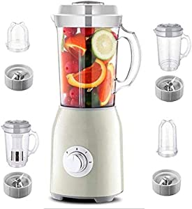 HXIYANG Multifunctional Blender Smoothie Machine, with food processor, spice grinder and ice crusher, household multifunctional small-scale fruit and vegetable soy milk smoothie juicer-White green
