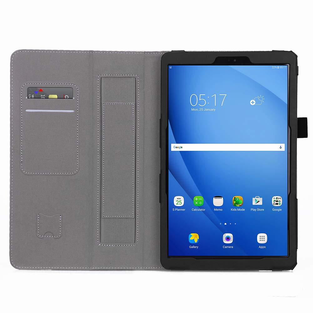 2c1ffe2f072 Galaxy Tab A 10.1 Funda,ISIN Folio Funda Case Cover Carcasa con Stand  Función para Samsung Galaxy Tab A de 10,1 pulgadas SM-P580 P585(S-Pen  Versión) ( No ...