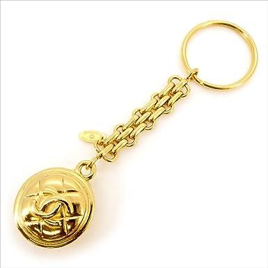 599d9e586d19 (シャネル) Chanel キーホルダー キーリング ゴールド マトラッセ×ココマーク レディース 中古 L1409